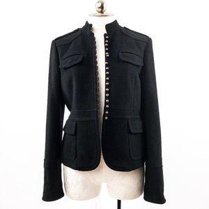 J. Crew Wool Brass Button military coat jacket